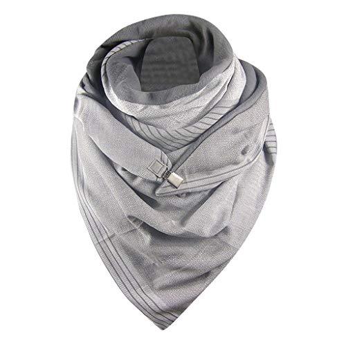 Carrymee Schal Damen Tücher und Schals Damen Kaschmir Schal Damen 100% Frauen Schal Mit Knöpfen Schal Geblümt Persönlichkeit Mode Schal