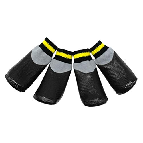 POPETPOP Botas para Perros Zapatos Impermeables para Perros Protectores Botines de Invierno con Calcetines Antideslizantes para Perros pequeños