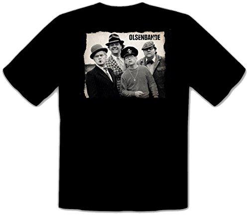Olsenbande Egon Benny Kjeld Börge Yvonne Schwarze T-Shirt -552 (XL)
