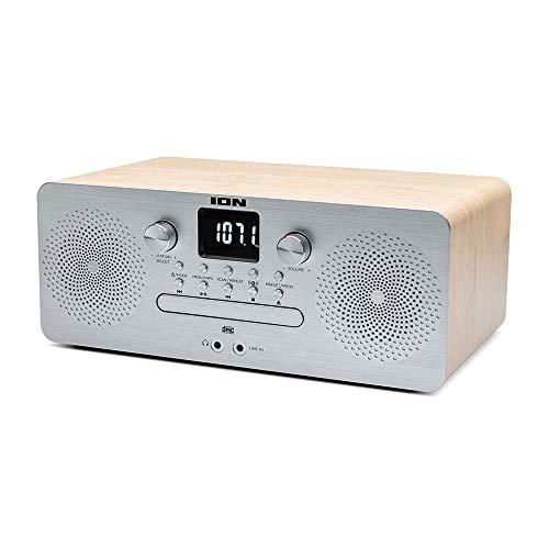 CD Player Air CD Pro Ion ICD08 com Transmissão sem Fio, Rádio, Entrada Auxiliar e Alto-Falantes Embutidos - Bivolt, Prata, ION_