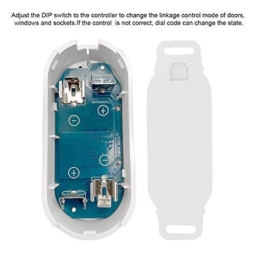 SIPAILING Funk Abluft-Steuerung Set mit Magnet Kontaktschalter Funk Steckdose für Dunstabzugshaube Kamin Fensterschalter Garage