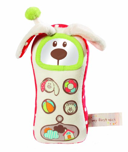 Nici My first Nici 33517 Tilly - Teléfono móvil de peluche, diseño conejo, 18 cm [importado de Alemania]