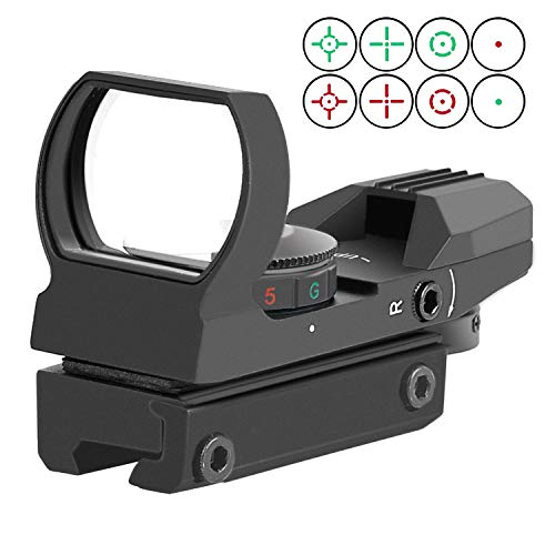 RHYTHMARTS Red Dot Sight 4 Styles Reticles Red & Green Reflex Sight Scope with 11mm Rail