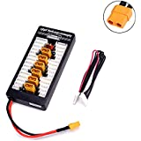 Crazepony-UK 2S 7.4V LiPo Parallel Charging Board JST-PH2.0 3-Pin 4.0mm Banana Plug 2S LiPo Battery Charge Board for Banlance Charge Imax B6 etc