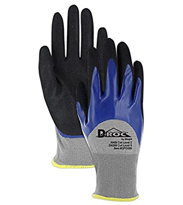 Lightweight Cut Resistant Double Dipped Sandy Nitrile Coated Gloves