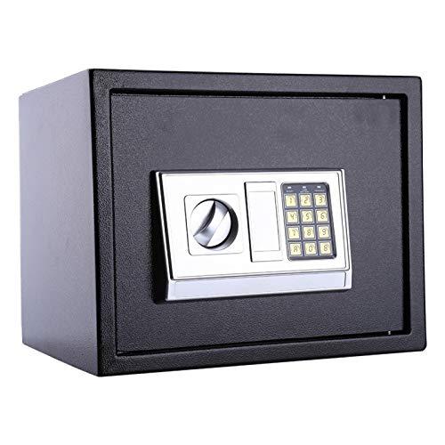 Pwshymi Cerradura de Seguridad Caja Fuerte Digital Caja de Almacenamiento Caja Fuerte electrónica con contraseña Construida con Acero Macizo Grueso, para Proteger la información Importante