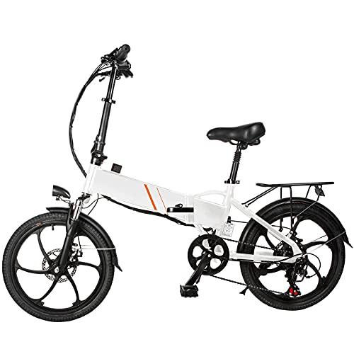 20 Pulgadas Bicicleta eléctrica Fest-nighj de Asistencia eléctrica Plegable Ciclomotor E-Bike 350W...