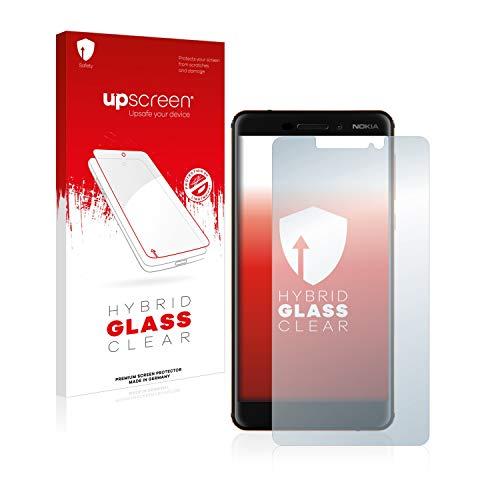 upscreen Hybrid Glass Panzerglas Schutzfolie kompatibel mit Nokia 6.1/6 2018 9H Panzerglas-Folie