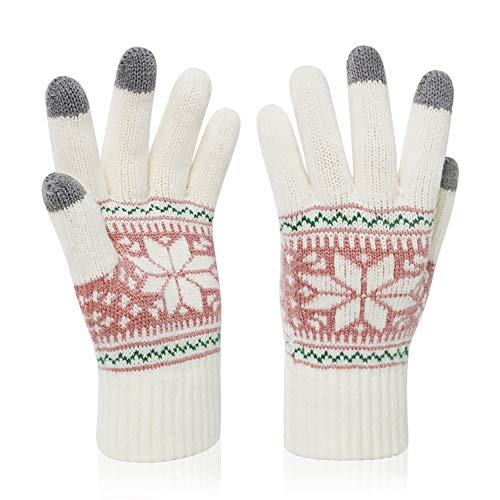 VENI MASEE Kerstmis Lover Snowprint Keep Warm Iphone Touch Screen handschoenen