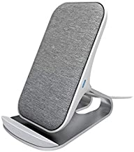 Wireless Charger Stand | Modern Clean Design Fast Charge Stand with Fabric Finish | 7.5W for iPhone Xs MAX XR X 8 Plus and 10W for Samsung Galaxy S10 S9 S8 S7 Note 9/8 (White)