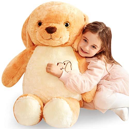 IKASA Large Dog Stuffed Animal Giant Teddy Bear Dog Plush Toy Golden Retriever Toy for Dogs Children (Golden, 30 inches)