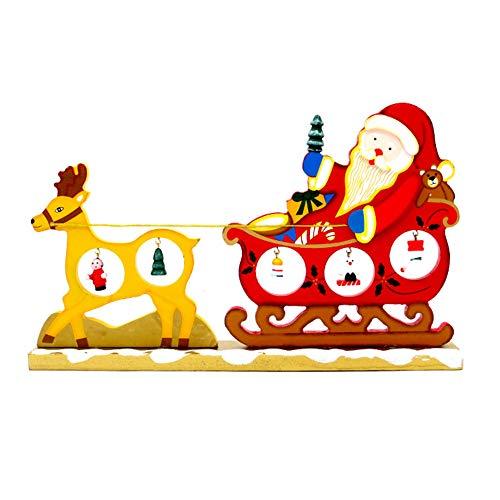 Ruikey Adornos Trineo de Ciervo de Navidad DIY Navidad Adornos Decoraciones Regalo para el Hogar Mesa de Comedor Decoracion de Oficina