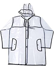 FGF-EU Impermeable Impermeable Impermeable EVA Ligero Impermeable Chaqueta Impermeable Impermeable Chaqueta Outwear Viaje Ropa Impermeable con Capucha