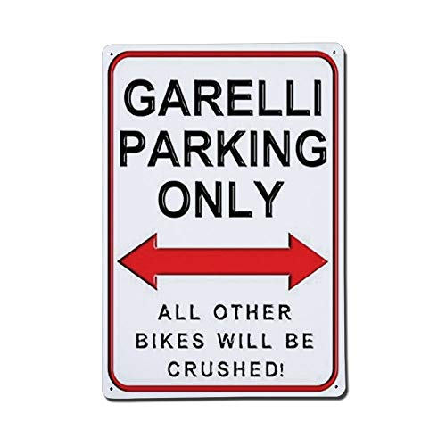 Cheyan Garelli Parking Only All Other Bikes Will Be Crushed Metallschild Blechschild Aluminium Schilder 20,3 x 30,5 cm