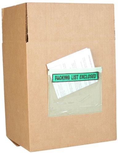Packing List Envelope, Green, 5-1/2