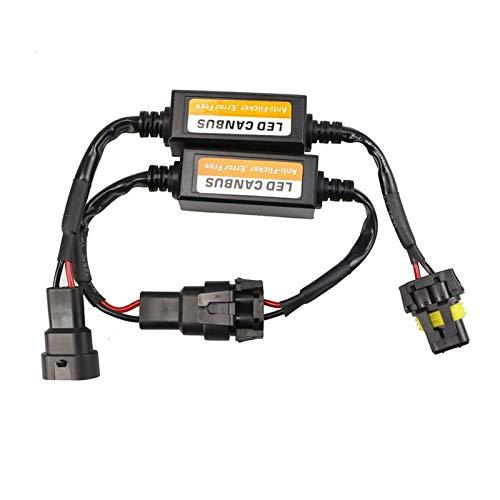 BAN SHUI JU MINSU GUANLI Decodificador LED Cancelador de Advertencia de Resistencia EMC sin Errores H1 H3 H4 H7 H8 H11 9004 9005 H15 H13 9004/7 Fácil Instalación (Socket Type : H9)