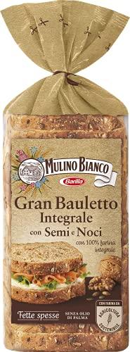 Mulino Bianco Gran Bauletto Integrale Semi e Noci, Ottimale per Tramezzini, Sandwich e Tartine, 465...