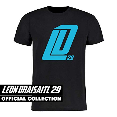 Scallywag® Eishockey T-Shirt Leon Draisaitl Dickes LD29 schwarz I Größen XS - 3XL I A BRAYCE® Collaboration (offizielle LD29 Kollektion vom NHL Edmonton Oilers Star) (L)