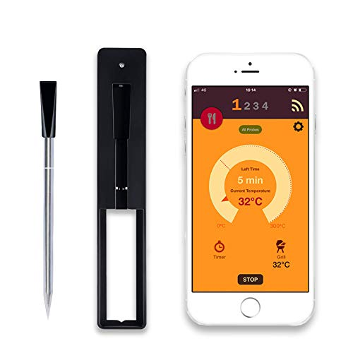Wireless Meat Thermometer, Smart Over 33ft Instant Read Digital Cooking Food Thermometer for Oven...