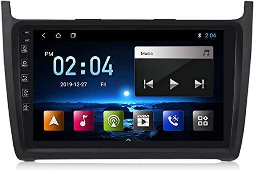Estéreo para automóvil Doble Din Android Navegación para automóvil GPS Compatible con Volkswagen POLO 2008-2020 Plug and Play Enlace espejo teléfono móvil con soporte USB dual Control del volante En