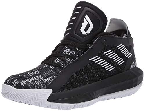 adidas Unisex Dame 6 Sneaker, White/Black, 4 M US Big Kid