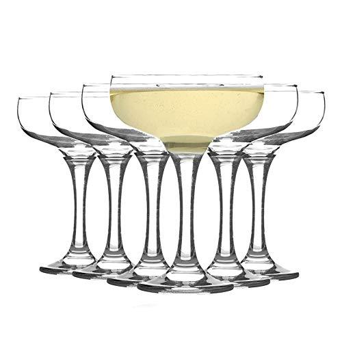 Rink Drink Copa achatada de champán - Estilo Vintage - 200 ml - Pack de 12