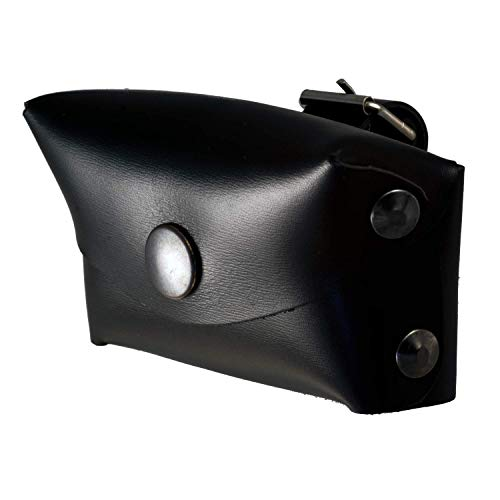 Porta Telepass per moto in pelle (cuoio) (Nero)