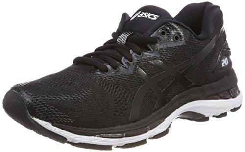 Asics Gel-Nimbus 20, Zapatillas de Running para Mujer, Negro (Black/White/Carbon 9001), 37 EU