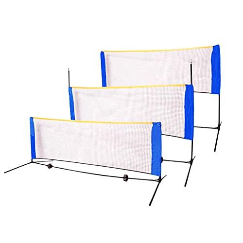 DYJD Badminton-Netz, 3m / 4m / 5m einstellbares faltbares Badminton-Tennis-Volleyball-Netz mit Stand-Tragetasche, für den Innen-Strand-Sport im Freien,14ft