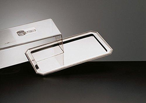 Königskuchenplatte/Tablett aus Edelstahl 18/0 mit Haube aus Polystyrol, SERIE