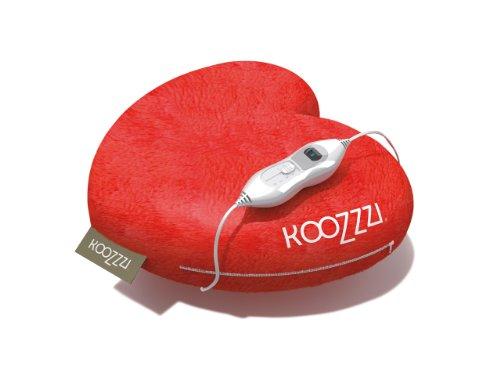 KooZzzi 549012 Beheizbares Herzkissen – Wohlfühlkissen im romantischen Design für kuschelige Momente