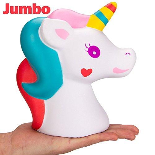 FowerYY Juguete de descompresión Adulto de la muñeca del Unicornio de la Subida Lenta del Juguete y Juguete de Rebote de los niños