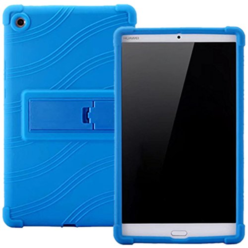 HminSen Huawei MediaPad M5 8.4 Funda - HminSen (2018 Nuevo Diseño) Ultra Slim Suave Silicona Back Stand Cover para Huawei MediaPad M5 8.4 SHT-W09 SHT-AL09 8.4 Pulgadas Tablet, Rojo azul marino