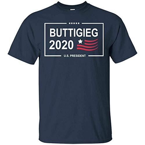 Pete Buttigieg 2020 for President Campaign T-Shirt Men's Tee Shirt Short Sleeve,Navy,S