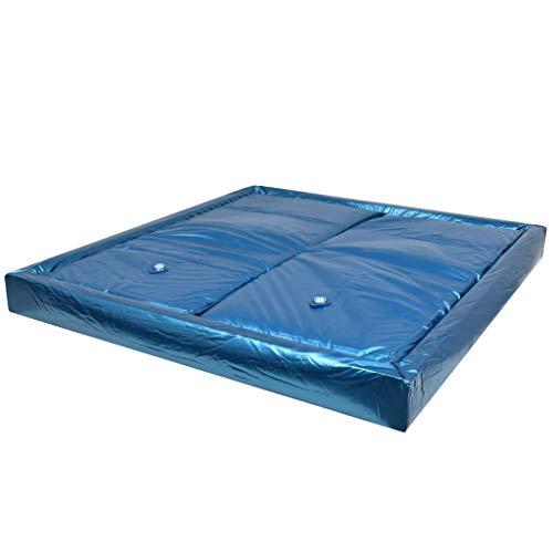 Festnight Wasserbettmatratzen-Set mit Einlage + Trennwand | Softside Wasserbett Matratze | Wasserbett Wasserkern | 200 x 220 cm F3