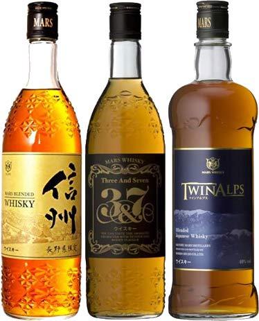 マルスウイスキー 3本 飲み比べセット 「信州 長野県限定、3&7、ツインアルプス」 [ 720ml×2本, 750ml×1本 ]