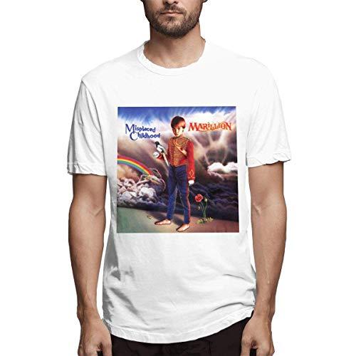 Camiseta Blanca de diseño Infantil Marillion Misplaced Childhood Fashion para Hombre