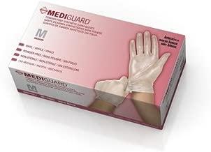 Medline Mediguard Vinyl Synthetic Exam Gloves, Clear, Medium, 1500 Count