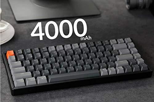 Keychron K2 Wireless Bluetooth/USB Wired Gaming Mechanical Keyboard, Compact 84 Keys RGB LED Backlight N-Key Rollover, Aluminum Frame for Mac Windows, Gateron Red Switch, Version 2