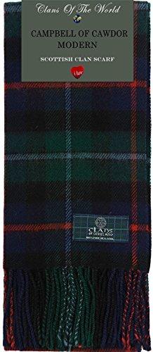 I Luv Ltd Campbell of Cawdor Modern Tartan Clan Scarf 100% Soft Lambswool