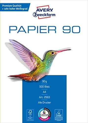 Canon 2970B010AA original Tinten Multipack Schwarz und Mehrfarbig für Pixma Inkjet Drucker & Avery Zweckform 2563 Drucker-/Kopierpapier (500 Blatt, 90 g/m², DIN A4 Papier, hochweiß) 1 Pack