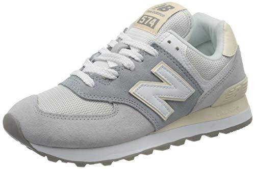 New Balance 574 WL574LBR Medium, Zapatillas para Mujer, Grey (Light Slate LBR), 43.5 EU