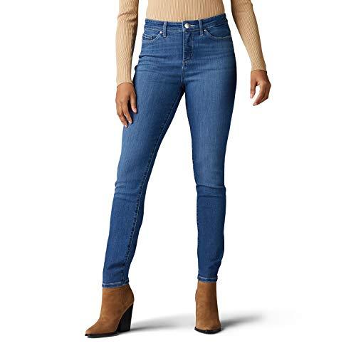 Lee Women's Sculpting Slim Fit Skinny Leg Jean, Luna, 10 Petite