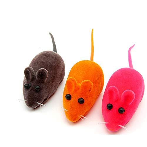 BANGBANGSHOP Bangangshop 3-teiliges lustiges Spielzeug, kleine Maus, realistisches Klangspielzeug für Katzen und Katzen (zufällige Farbe)