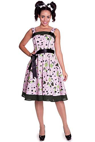 Hell Bunny - Dixie 50s jurk jurk rockabilly roze multicolor (XS-XL)