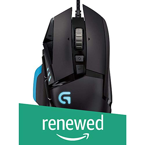 (Renewed) Logitech G502 Proteus Core Tunable Gaming Mouse with Fully Customizable Surface, Weight and Balance Tuning