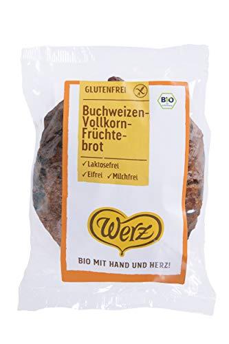 Werz Buchweizen-Früchtebrot glutenfrei, 1er Pack (1 x 250 g Packung) - Bio
