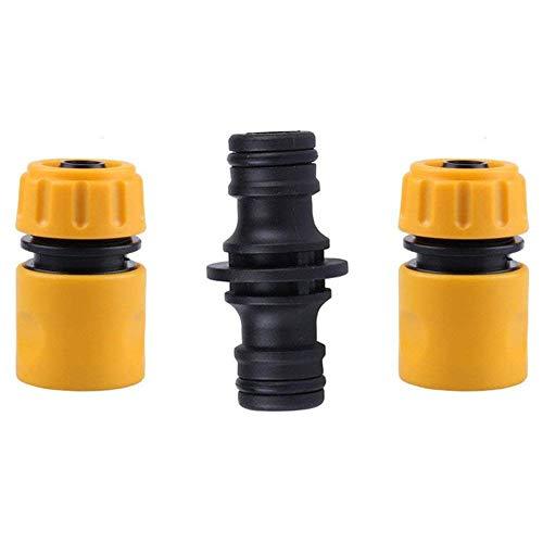 Topways® Hose Fitting Repair Set 2x Plastic Garden Water Hose 1/2' Quick...
