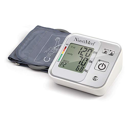 Blood Pressure Monitor Accurate Pulse Rate Monitoring Automatic Electronic Monitors Bp Tracking Machine Arrhythmia Detection Best Health Kit LCD Screen (Smartphone Bluetooth Compatibility Arm Cuff)