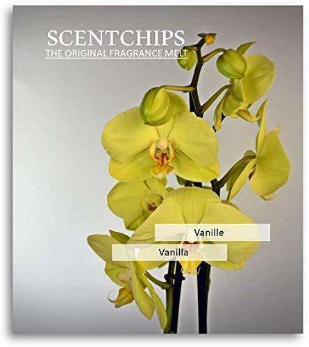 Feste Feiern Duftwachs Scentchips I 12x Aroma Vanille (Vanilla) Raumduft Melts Soja Wachs Wax Duft Tards für Aromalampe Duftlampe Diffuser